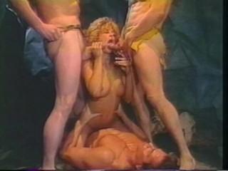 Horny caveman foursome fucking...