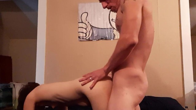 Quick Hard Doggystyle and Cum All Over Her Ass