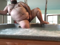 Naughty public soak in the pool and hot tub, to celebrate 2 million views!