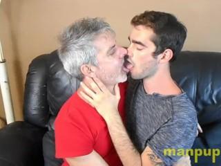 Twink and daddy kissing 20yo kody tracer 51yo...