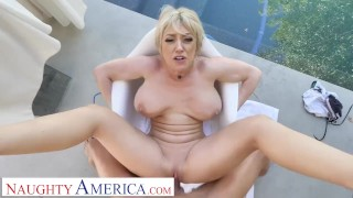 Naughty America – Dee Williams releases some stress by fucking you
