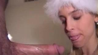 Christmas Deepthroat Heather Brooke Sucks Him Dry Giving the Best Present