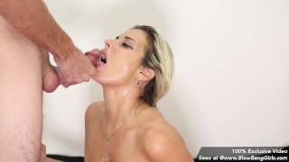 Blowbang Girls MILF Alana Luv Takes 7 Loads of Cum on Her Face