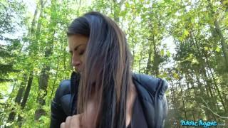 FakeHub - Hot Czech girl rides stranger's cock in forest for extra money