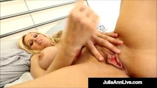Jizz Making Julia Ann Pleasures Her Pussy For A Fanatic Guy!