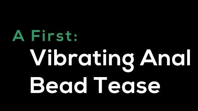 A First: Vibrating Anal Bead Tease- A Dani Sorrento trailer 12