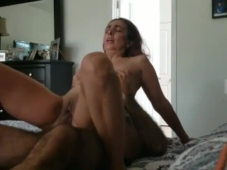 Horny mature wife reverse cowgirl scene