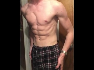 Pec bounce and muscle flexing