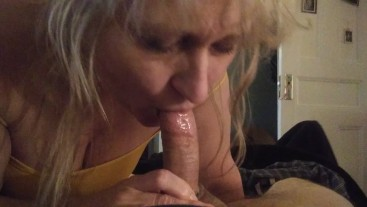 Dad's new wife wakes me up for blowjob after my dad leaves for work