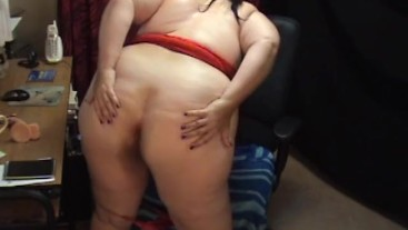 BBW Sex Show - ASS Worship Session on Cam Show Recorded - Not HD Quality