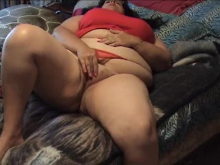 Bbw fuzzy pussy play fingers in with spread...