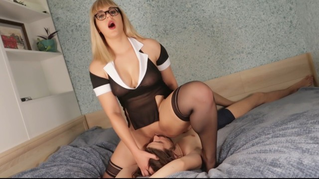 Pussy lickign - Teacher makes student pussy licking for a good school marks