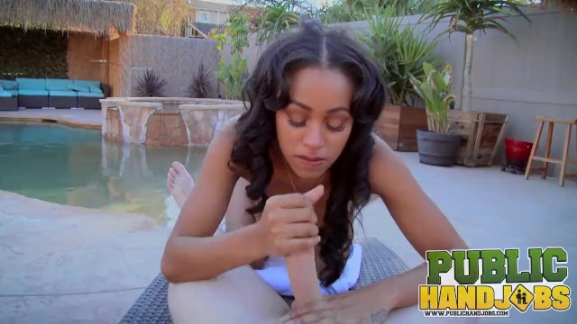 PUBLIC HANDJOBS - Busty Anya Ivy Gets Cum All Over Her Tits 6
