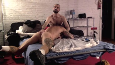 PIGGED OUT BY FIT BIG DICK SPANIARD RAW