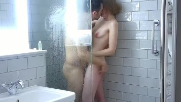 Washing Each Other - Erotic Shower Foreplay