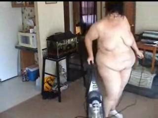 Bbw vacuuming nude lots of big ass bending...