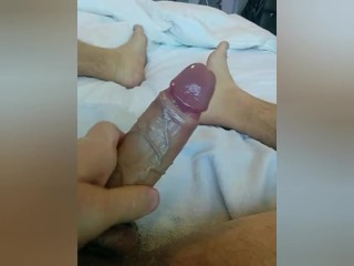 Edging with lube gets verbal...