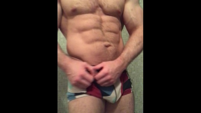 Muscle hunk teasing, flexing, showing ass, arms, lats, delts, chest