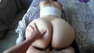 POV I fuck my step sister PAWG and take it doggystyle like a bitch!