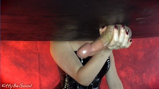 Vibrating Stroker Toy & Sensual Milking With Head Torture