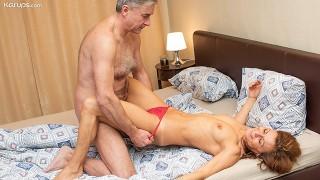 Grandma & Grandpa Get 18 Year Old Granddaughter To Record Them Fucking