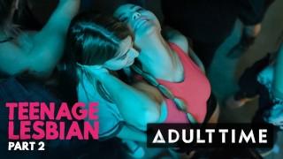 ВРЕМЯ ДЛЯ ВЗРОСЛЫХ Подростковая лесбиянка: Кристен Скотт учится у Кенны Джеймс