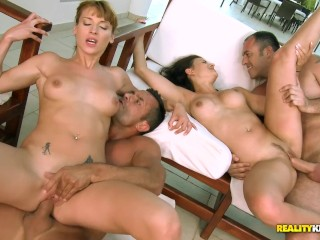 Babes katia victoria orgy pool...