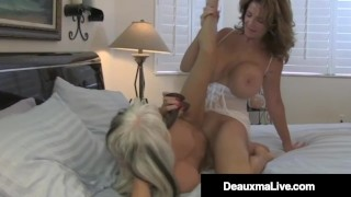 Busty Mommy Deauxma Helps Hubby Ass Fuck Hot Sally D'Angelo!