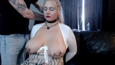 clamped and slapped until she cries