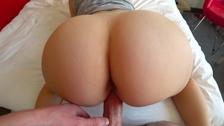 Schoolgirl with tight pussy gets fucked in a hotel