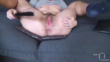 Hairy ftm pussy swatting - step by step more explicit