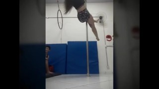 Tattoo Girl Pole Dance - Lucie Fox - Enjoy my curvy body