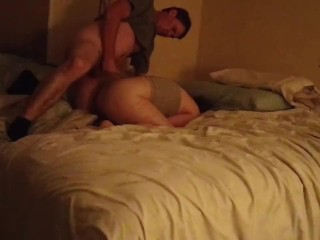 Stepdad fucks/pounds stepdaughter in the ass