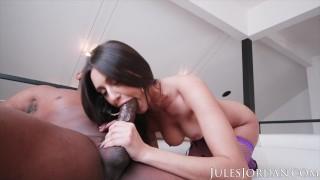 Jules Jordan - Natural Beauty Eliza Ibarra Takes On A Big Black Cock