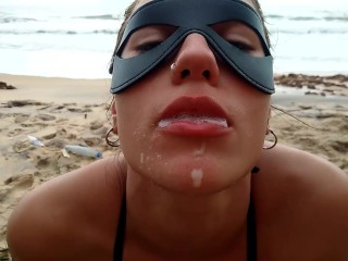 Pov public summer face anal swllow...