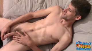 Straight jock Apollo Delion rubs one out by solo wanking