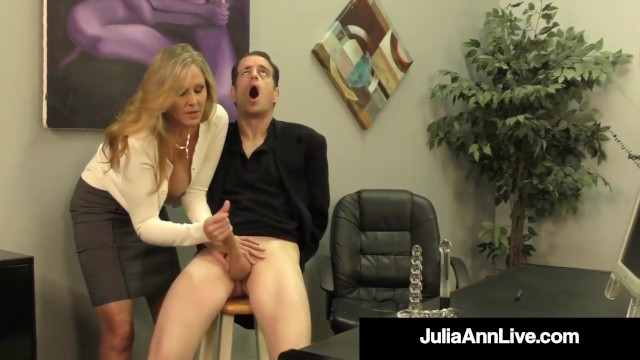 Julia ann handjob - Cock craved cougar julia ann squeezes cum from rock hard cock