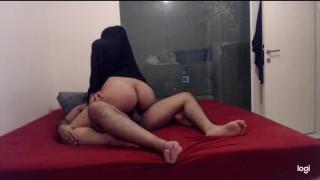Amateur Big ass Pregnant Hijab Mom Rides her Husband's Cock- Homemade Sex