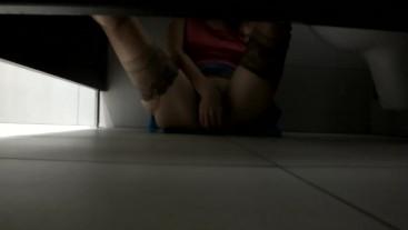 Wife caught masturbating at public mens toilets