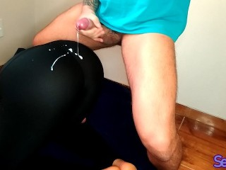 He Cant Resist To Cum In My Yoga Pants