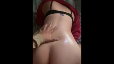 College girl gets fucked from the back