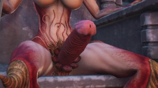 Lilith and her sex in the dark castle