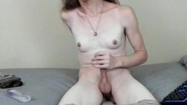 Delectable Tgirl JadeIsRad passionately masturbates for orgasm! 60FPS!