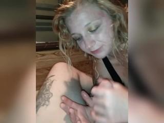 Sucking Mr.backloads cock. Young,blonde Hottie get fingered hard