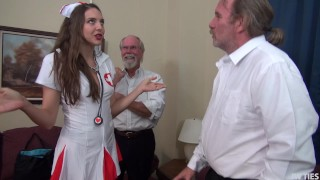 Nurse Sadie Fucked In Public Bathroom For Creampie FULL HD