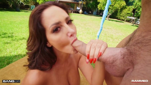 Rammed - Hot Big Tits MILF Gets Fucked Outdoors 12
