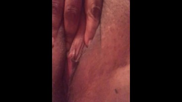 Bbw playing with wet pussy while her stepdad records it