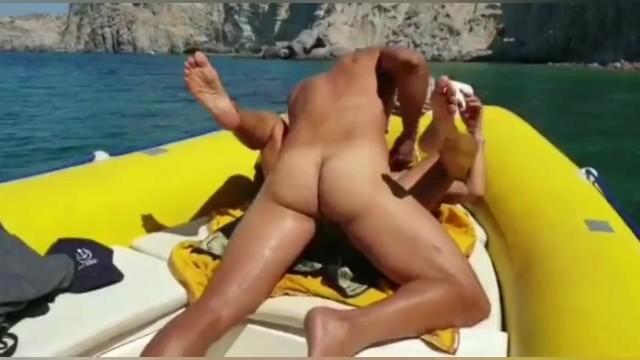 Boat british crewed island sail virgin Summer holiday in greek island with hot milf