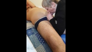 Massage testicles out bj
