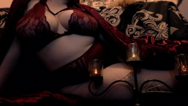 Curvy Femdom Witch Casts a Shrinking Spell on your Dick - Jerk Off Game